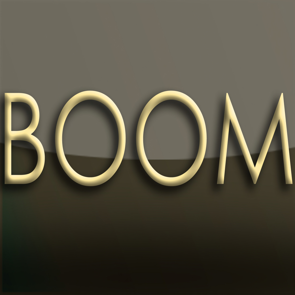 boom logo sepia and gold